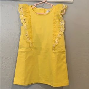 Janie and Jack Yellow Cotton Toddler Dress - 4